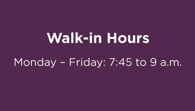 CCP Allegheny Office Walk-in hours