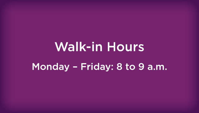CCP Greenville Walk-in hours