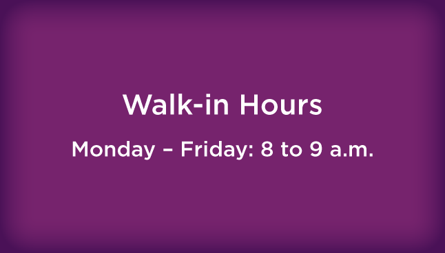 CCP Mt. Lebanon Walk-in hours
