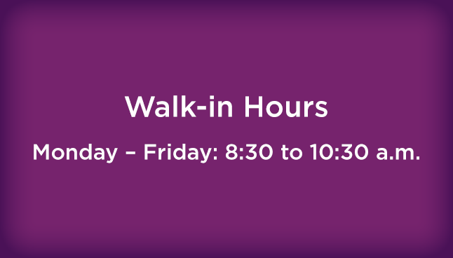 CCP  Mount Pleasant Walk-in hours