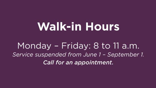CCP Norwin Walk-in hours