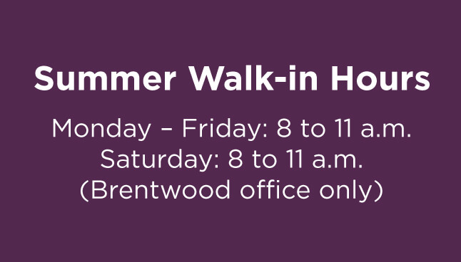 South Hills Pediatric Associates, Brentwood Office Walk-in hours
