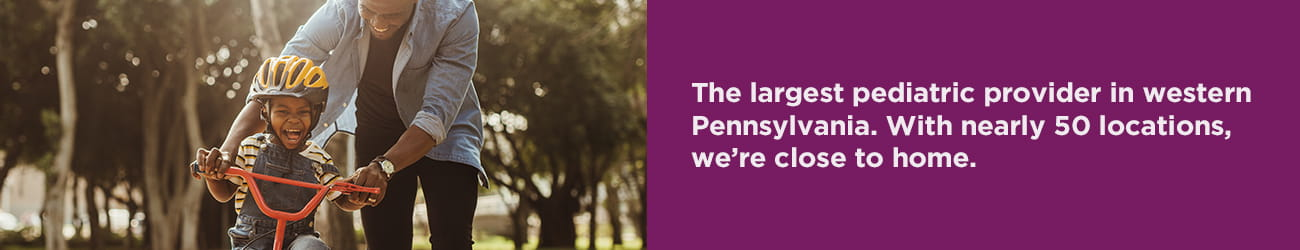 UPMC CCP is the largest pediatric provider in Western PA.